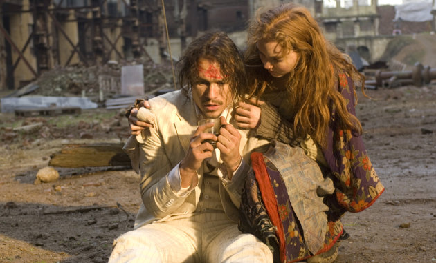 Heath Ledger Lily Cole The Imaginarium of Doctor Parnassus Production Stills 2009