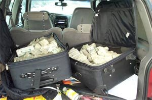 Cash seized from Ohio in 'Operation Falling Star' from the Lewis narcotics organization.