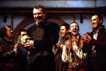 Geoffrey Rush , Tom Wilkinson and Ben Affleck in Shakespeare In Love