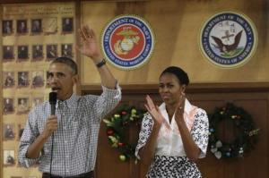 U.S. President Barack Obama and First Lady Michelle …