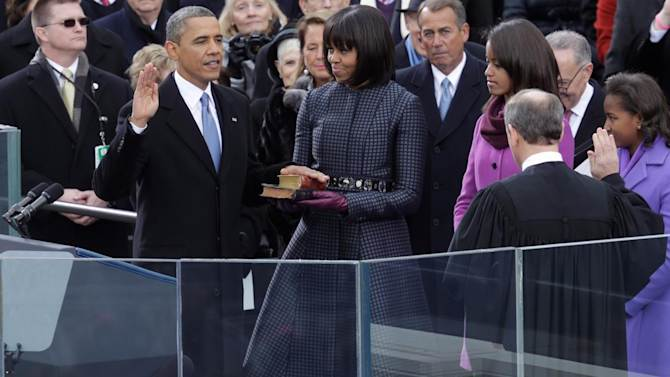 Watch President Obama take oath of office