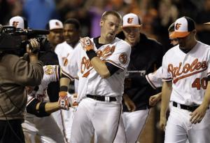 Wieters hits slam in 10th, Orioles beat Rays 10-6