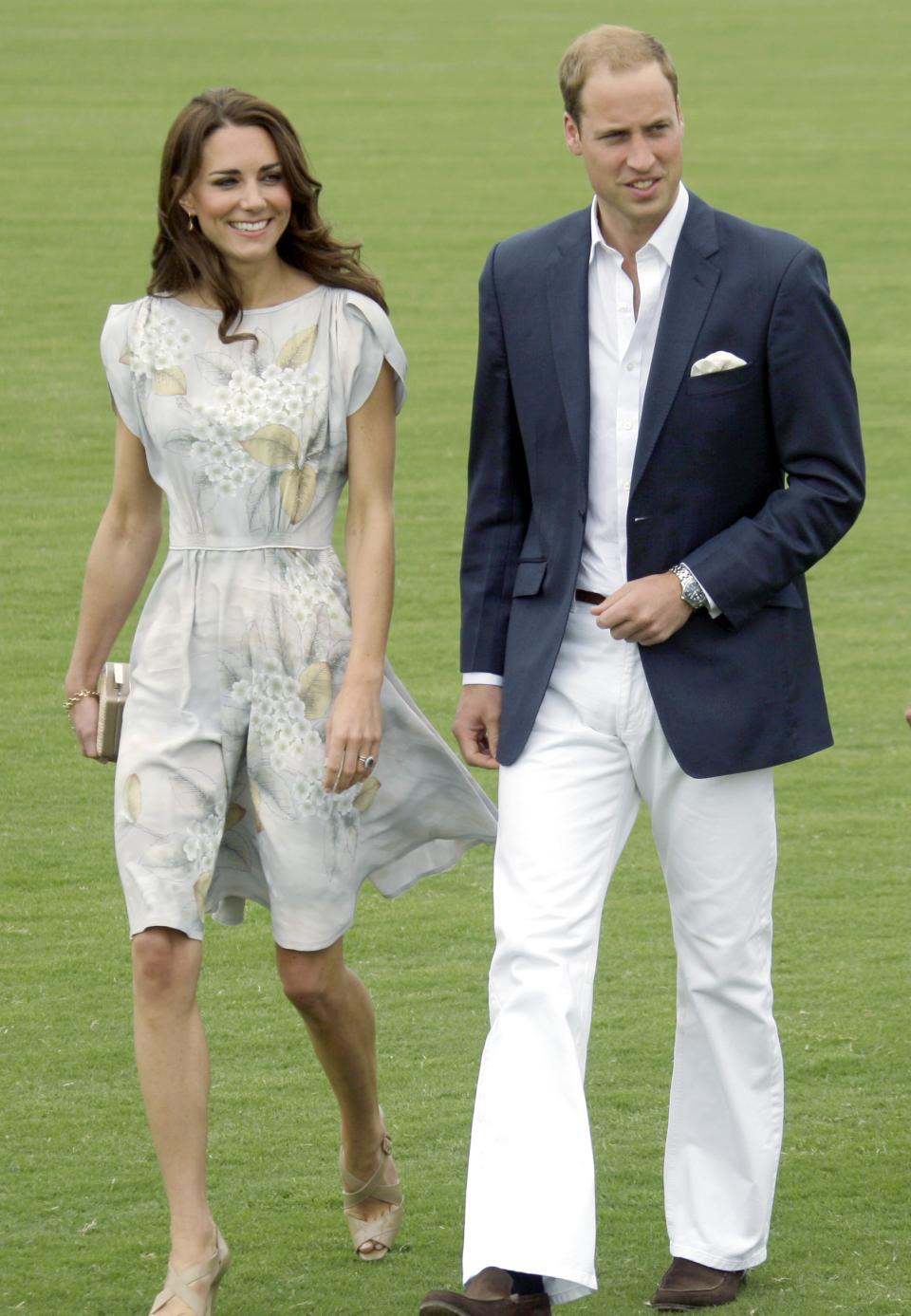 Prince William and Kate, the Duke and Duchess of Cambridge, arrive at a charity polo match at the Santa Barbara Polo & Racquet Club in Carpinteria, Calif., Saturday, July 9, 2011.  The event is held in support of The American Friends of The Foundation of Prince William and Prince Harry.  (AP Photo/Reed Saxon)