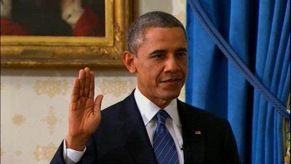 Obama sworn in for 4 more years in office