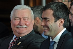 Solidarity founder and former Polish President Lech…