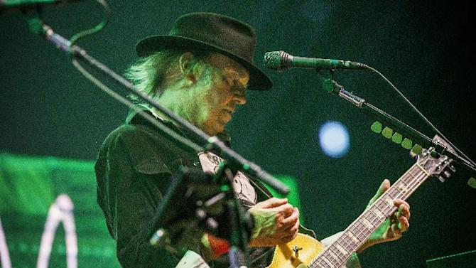 Neil Young and the Crazy Horse band perform in Oslo Spektrum on August 7, 2013