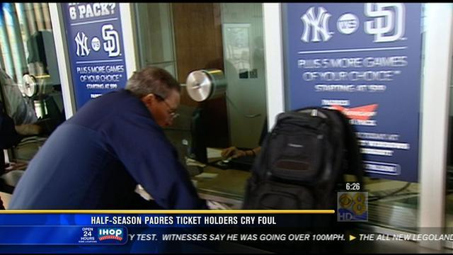 Half-season Padres ticket holders cry foul