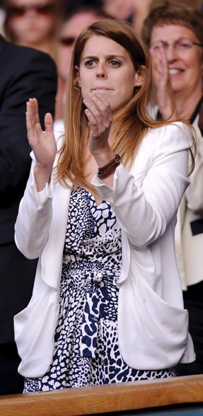 Princess Beatrice at Wimbledon 2011 © Rex