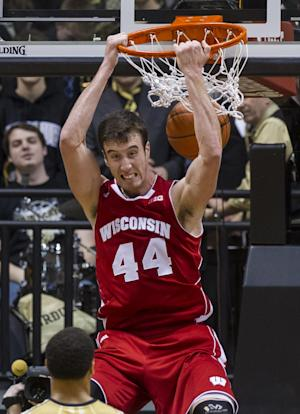 No. 9 Badgers end skid with 72-58 win at Purdue