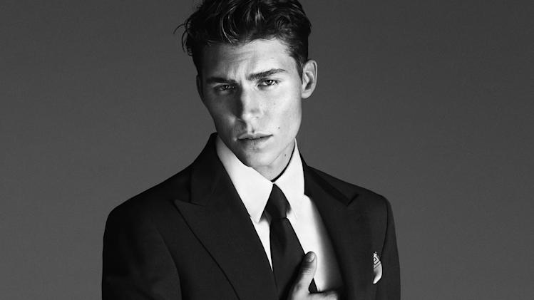 Fashion photography duo Mert Alas & Marcus Piggott shot the Versace campaign starring Nolan Funk.