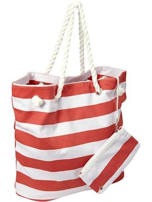 Rope Strap Canvas Tote
