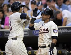 Hicks homers again as Twins beat Brewers 4-1