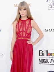 Taylor Swift arrives at the 2012 Billboard Music Awards held at the MGM Grand Garden Arena in Las Vegas on May 20, 2012 -- Getty Images