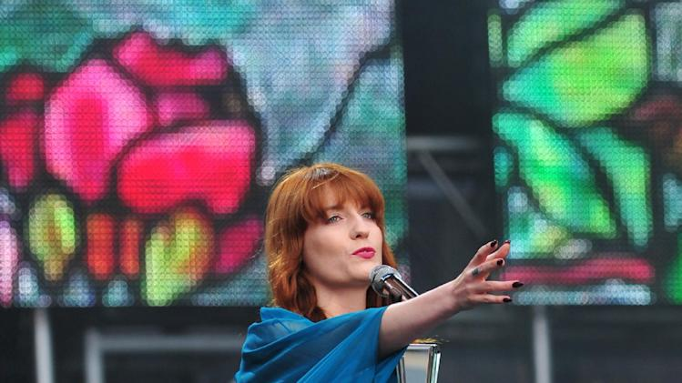 Florence Welsh from Florence and the Machine performs at The Sound of Change Live at Twickenham Stadium in London on Saturday, June 1st, 2013. (Photo by Jon Furniss/Invision/AP Images)