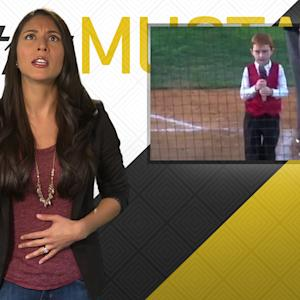 Mustard Minute: Kid hiccups through National Anthem and nails it