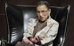Ruth Bader Ginsburg Lifts Weights