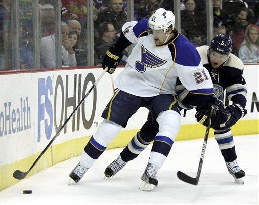 Perron, Halak lead Blue to 5th straight win