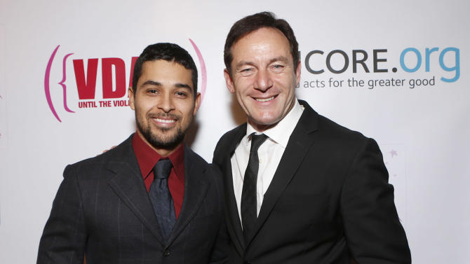 Wilmer Valderrama and Jason Isaacs attend A New Way of Life Reentry Project 14th Annual Fundraising Gala on Sunday December 9, 2012 in Los Angeles, California.  (Photo by Todd Williamson/Invision/AP Images)
