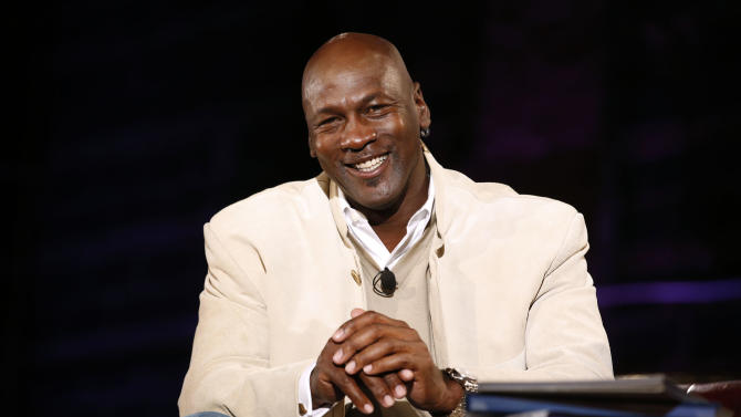 (L-R) Charlotte Bobcats owner Michael Jordan as seen at Golf Channel's 'Feherty Live From the Ryder Cup', on Monday, September 24, 2012 at the Tivoli Theatre in Downers Grove, IL.  (Ross Dettman /AP Images for Golf Channel)