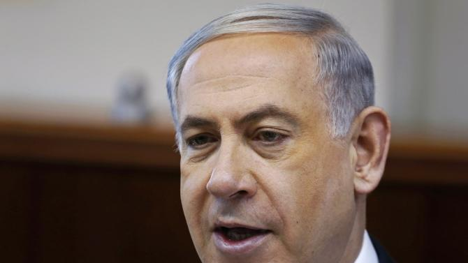 Israeli Prime Minister Netanyahu attends cabinet meeting  in Jerusalem