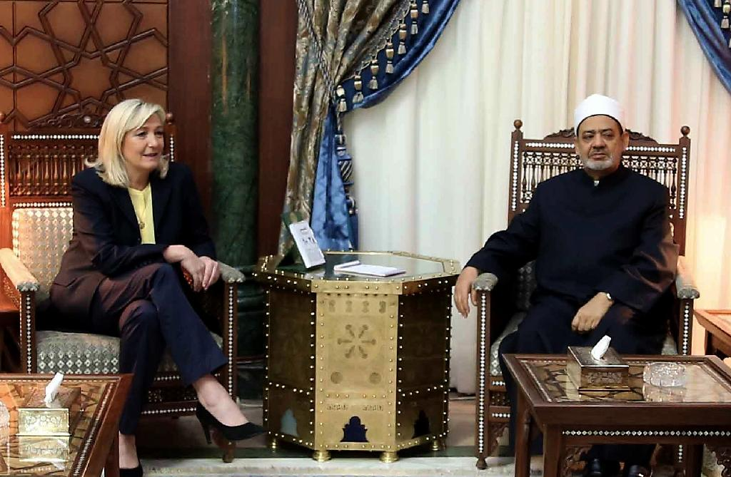 France's Le Pen in Egypt for surprise talks with Muslim body