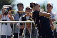 South Korean golfer Michelle Wie, pictured competing last month, had six birdies in a six-under 66 on Thursday to seize a share of the first round lead in the Lorena Ochoa Invitational alongside Candie Kung and Angela Stanford