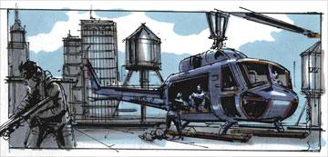 Storyboards from the bank heist sequence Warner Bros. Pictures' Superman Returns