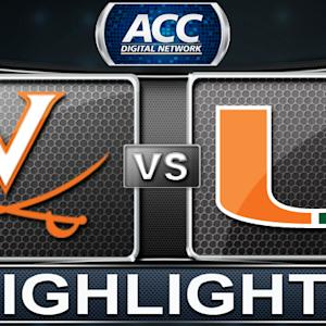 Virginia vs Miami | 2013 ACC Football Highlights