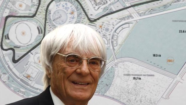 Formula One commercial supremo Bernie Ecclestone attends a signing ceremony in Sochi in 2010 (Reuters)
