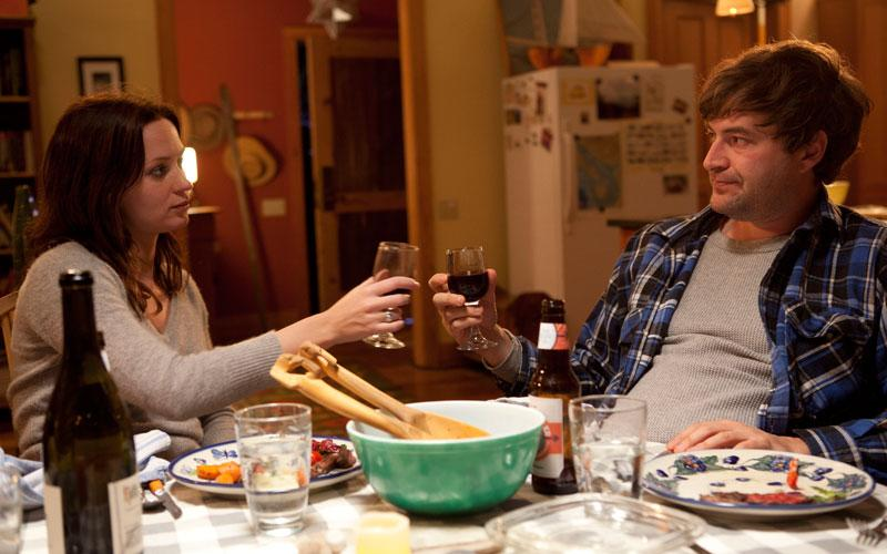 "This film image released by IFC Films shows Emily Blunt, left, and Mark Duplass in a scene from ""Your Sister's Sister."" (AP Photo/IFC Films, Tadd Sackville-West)"