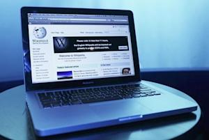 Wikipedia webpage in use on a laptop computer is seen in this photo illustration taken in Washington