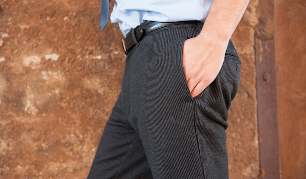 These dress pants and sweatpants in one blend fashion and function. (Betabrand.com)