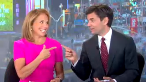 Katie Couric Is All Smiles; How Bacon Banner Ads Get Made