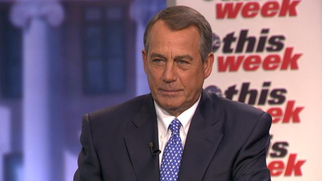 John Boehner 'Can't Imagine' His Gay Marriage Views Shifting