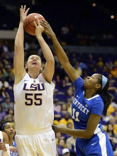 Kenney lifts LSU women over No. 8 Kentucky, 77-72