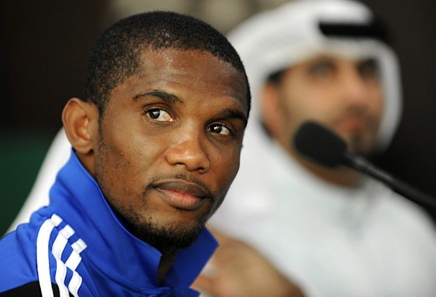 Anzhi Makhachkala's Cameroonian Forward Samuel Eto'o Holds AFP/Getty Images