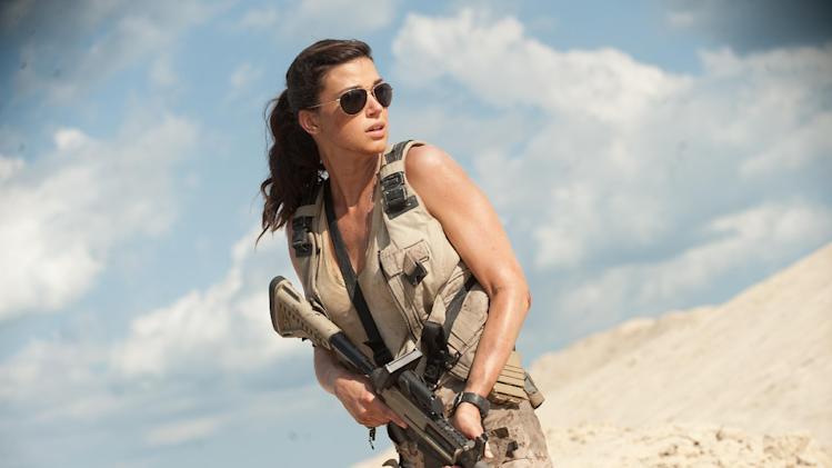 "This film image released by Paramount Pictures shows Adrianne Palicki in a scene from ""G.I. Joe: Retaliation."" (AP Photo/Paramount Pictures, Jaimie Trueblood)"