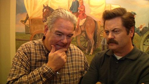 Jim O'Heir and Nick Offerman 100th Episode Interview
