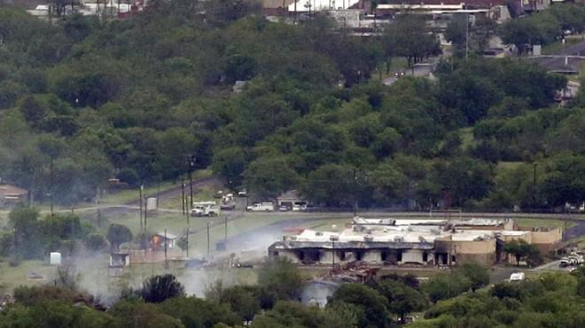 The remains of the West Fertilizer plant in Texas after the deadly explosion.