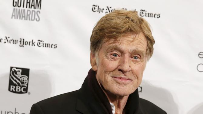 Actor Robert Redford poses on the red carpet for the Gotham Independent Film Awards in New York