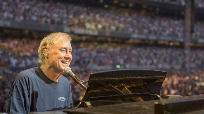 IMAGE DISTRIBUTED FOR THE GRATEFUL DEAD - Bruce Hornsby of The Grateful Dead perform at Grateful Dead Fare Thee Well Show at Soldier Field on Saturday, July 4, 2015, in Chicago, Ill. (Photo by Jay Blakesberg/Invision for the Grateful Dead/AP Images)