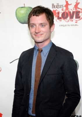 "Elijah Wood steps out at the fifth anniversary celebration of ""The Beatles LOVE by Cirque du Soleil"" show at the Mirage Hotel & Casino in Las Vegas on June 8, 2011  -- Getty Images"