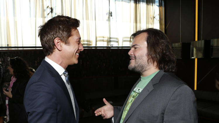 Film Independent Co-President Sean Mc Manus and Jack Black attend the Film Independent Spirit Awards Luncheon at BOA Steakhouse on Saturday, Jan. 12, 2013, in West Hollywood, Calif. (Photo by Todd Williamson/Invision/AP)