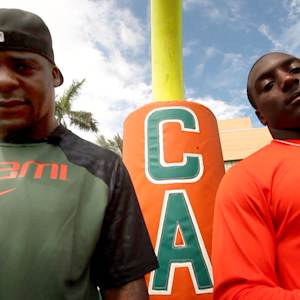 "Miami's Duke Johnson & Clinton Portis Hanging Out at ""The U"""