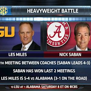 Heavyweight Battle: Les Miles vs. Nick Saban