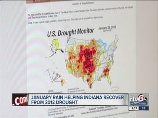 January precipitation pulls most Indiana counties out of drought situation