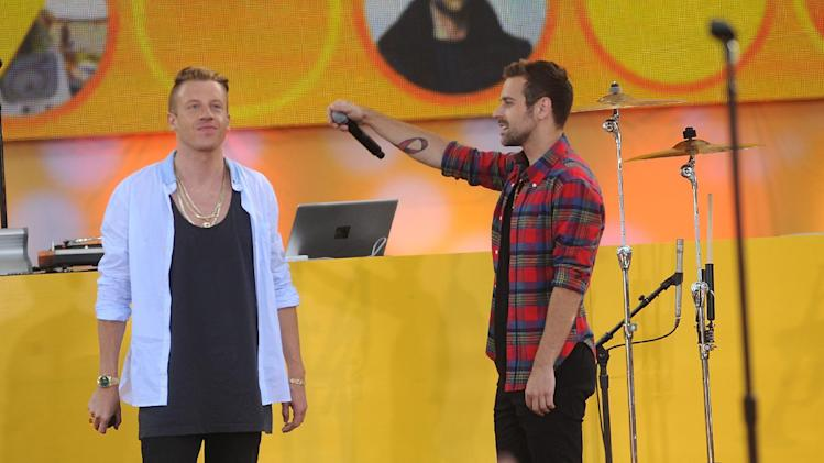 Ryan Lewis perform on stage at the Good Morning America Concert Series