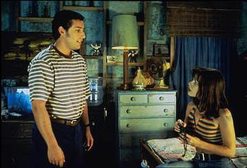Adam Sandler and Fairuza Balk in Touchstone's The Waterboy