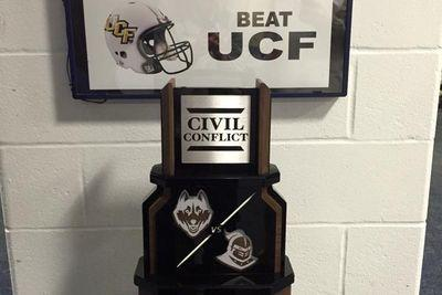 UConn-UCF's new 'Civil Conflict' rivalry trophy is already the country's worst