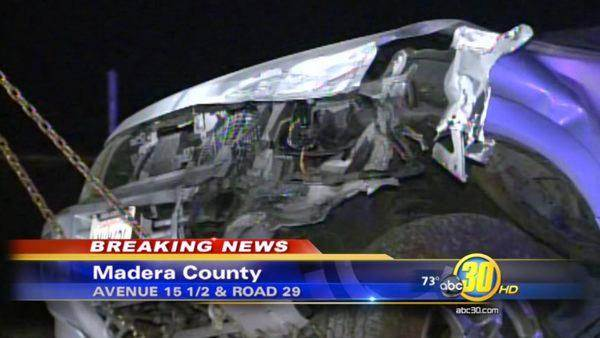 Amtrak train collides with vehicle near Madera
